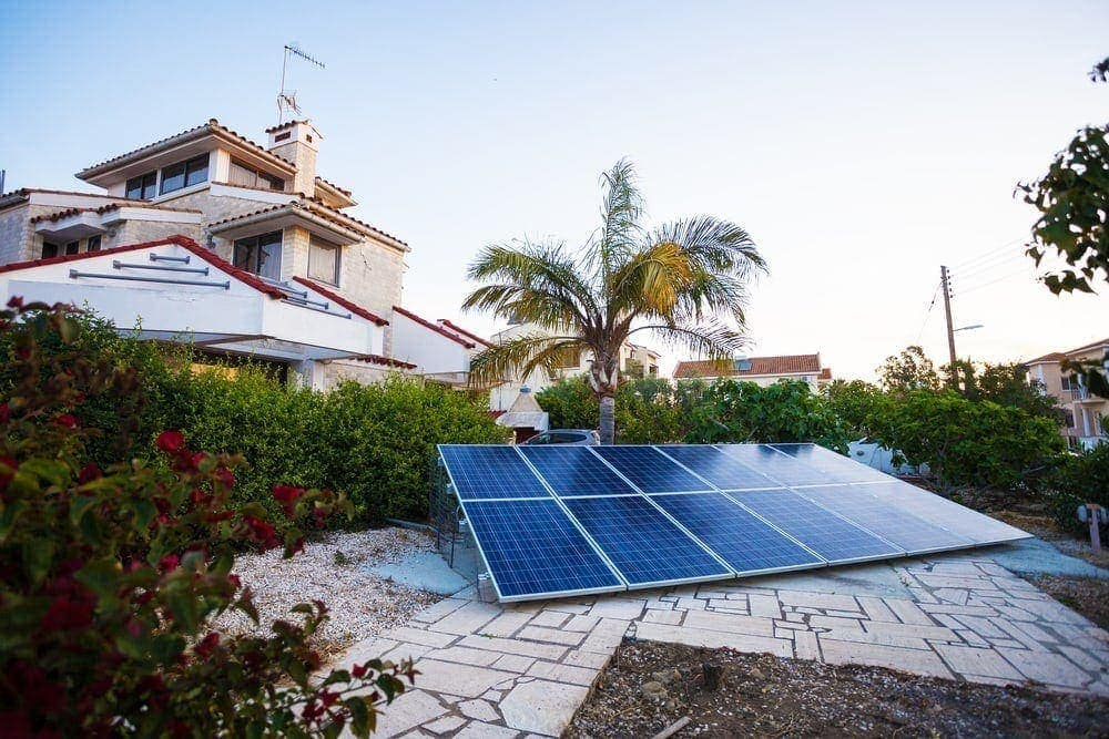 small solar panel outside of a home