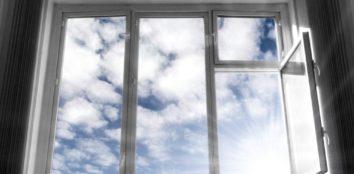 sun shining through window glass