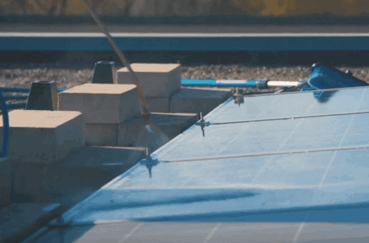 low pressure water cleaning solar panels