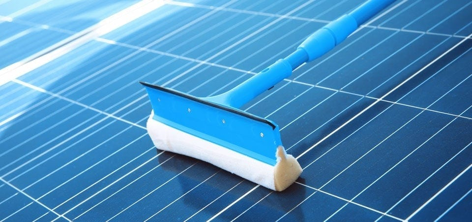 soft brush for cleaning solar panels
