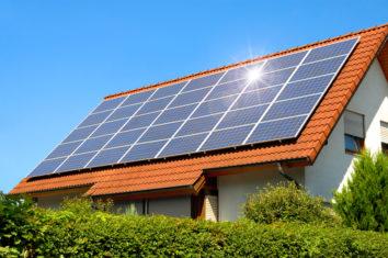 multiple solar panels on a house