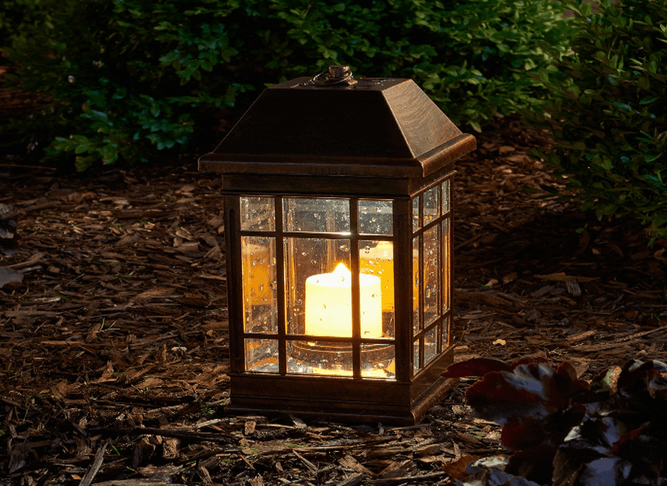 Waterproof Solar Lantern Hanging Light Led Table Candle Yard Patio Garden Lamp