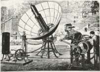 old photograph of Augustin Mouchot's solar engine
