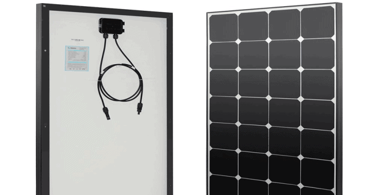 renogy eclipse 100 watt 12 volt monocrystalline solar panel featured image