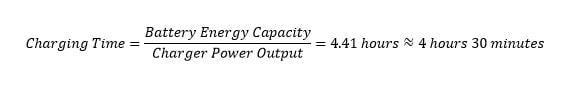 Charging time formula