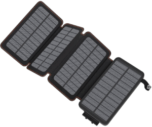 Hiluckey - Portable Fold-Out Solar Panel Power Bank