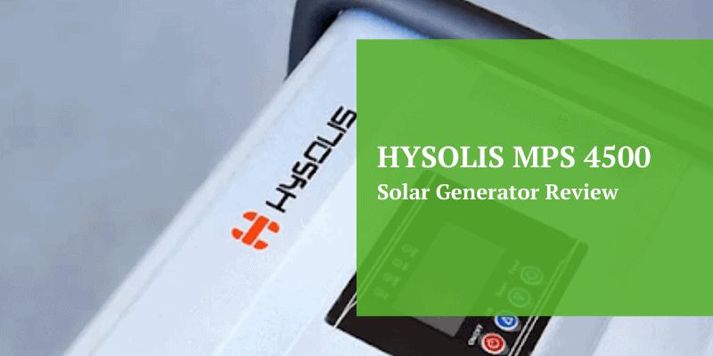 Hysolis Solar Generator