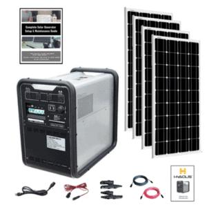 Hysolis MPS 4,500Wh Solar Generator Quad Kit