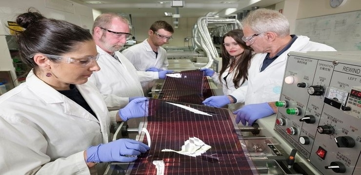 Production of printed solar panels