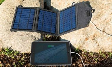 Solar battery charger without in-built battery