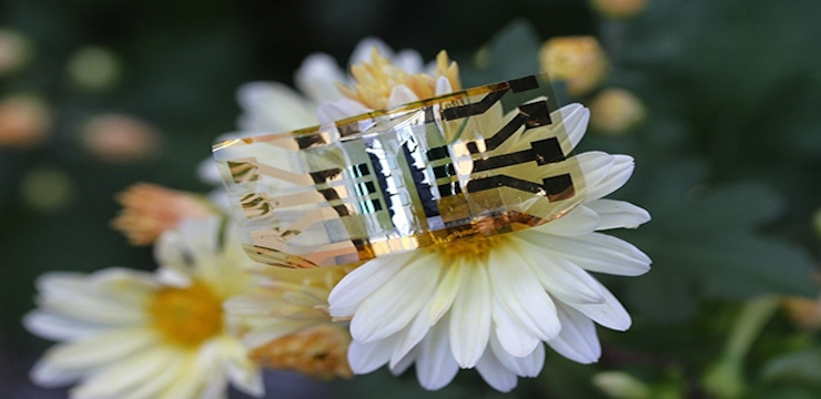 showing an ultra-thin and ultra-flexible solar cell