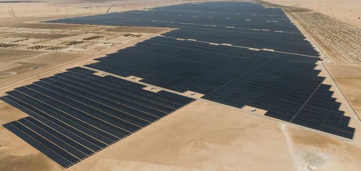 Noor Abu Dhabi Solar Plant (Source – Gulf News)