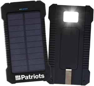 Patriot power cell solar power bank