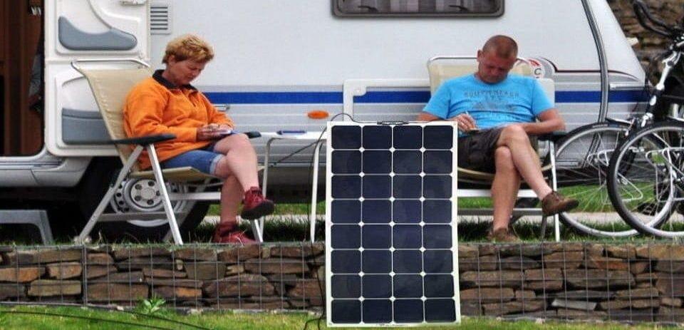 a couple using their solar panel