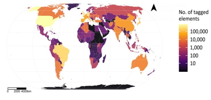 showing distribution of solar power plants worldwide