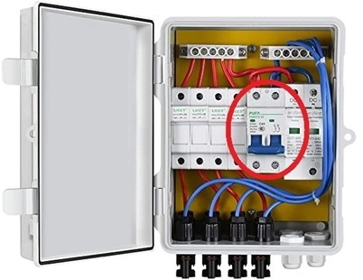 image showing a circuit breaker in a combiner box