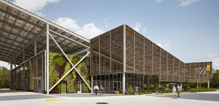 mcdonald's new net-zero restaurant building