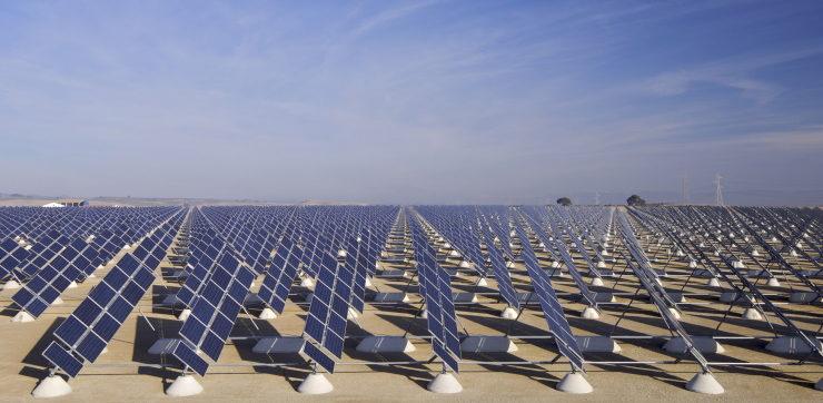 outdoor solar field