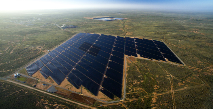 panoramic view of a solar plant