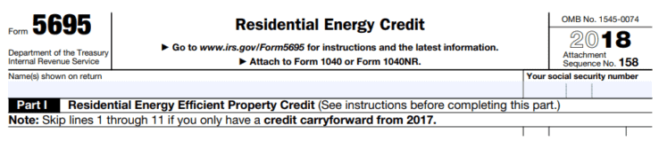 residential energy credit form