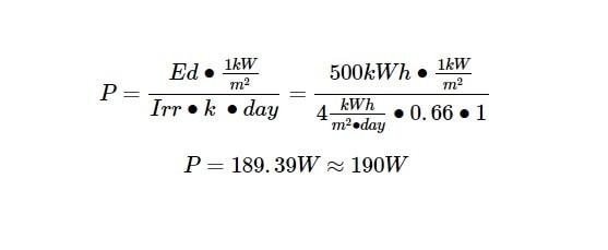 screenshot shows an equation