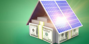 the house is made of money and solar panels